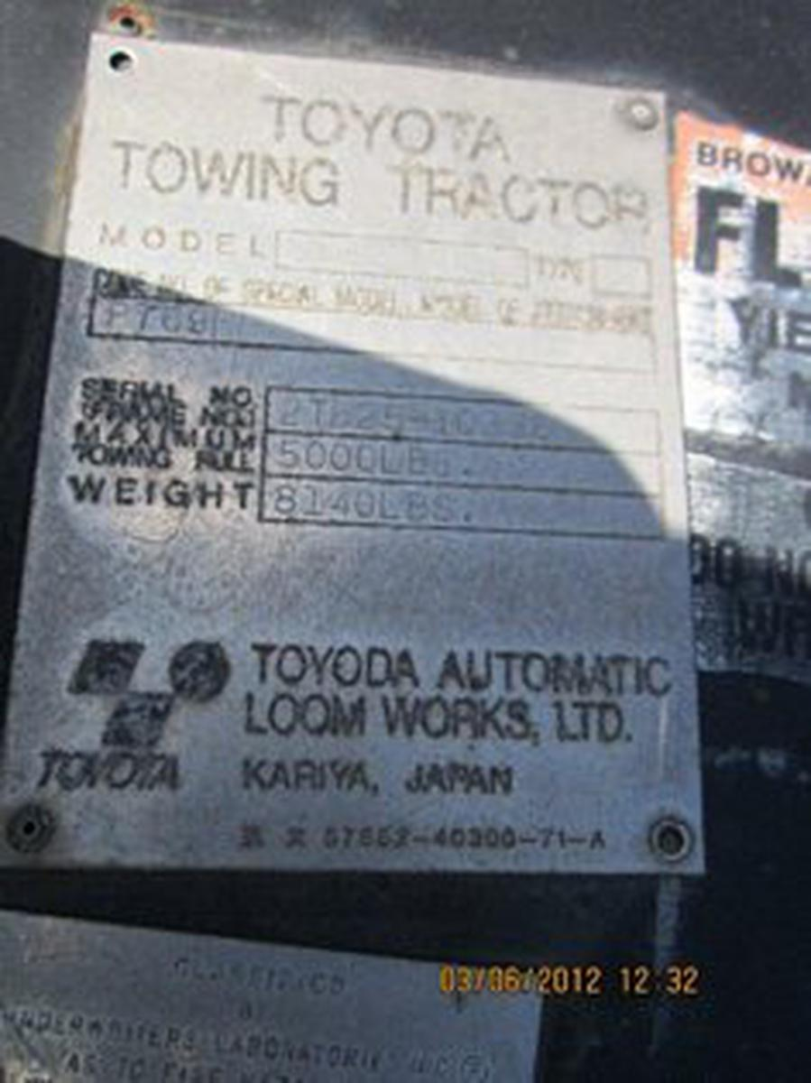 Baggage Tractor Toyota 02-TD23  D